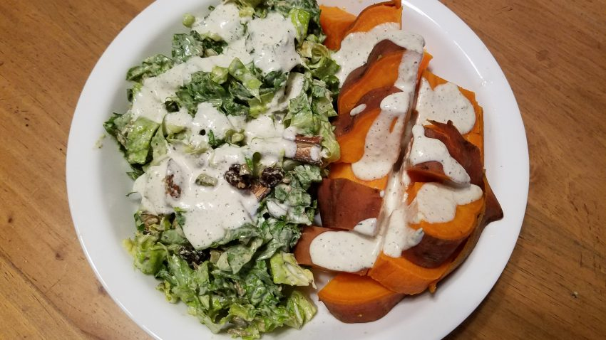Sweet Potatoes & Salad