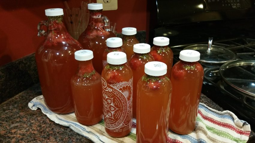 Bottling kombucha with flavorings