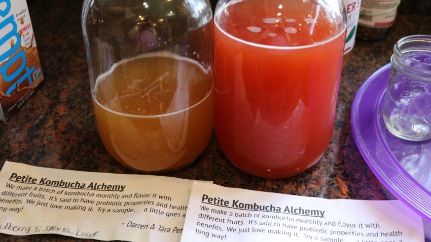 Kombucha makes a great gift or potluck contribution!
